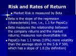 risk and rates of return27