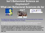 isn t behavioral science an oxymoron what can behavioral sciences do for me
