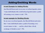 adding omitting words
