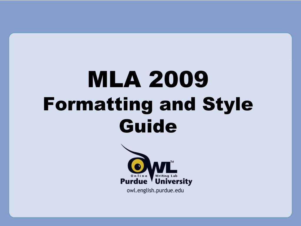 mla format guide