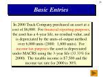 basic entries
