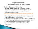 highlights of sb 1 implementation by institutions14
