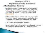 highlights of sb 1 implementation by institutions9