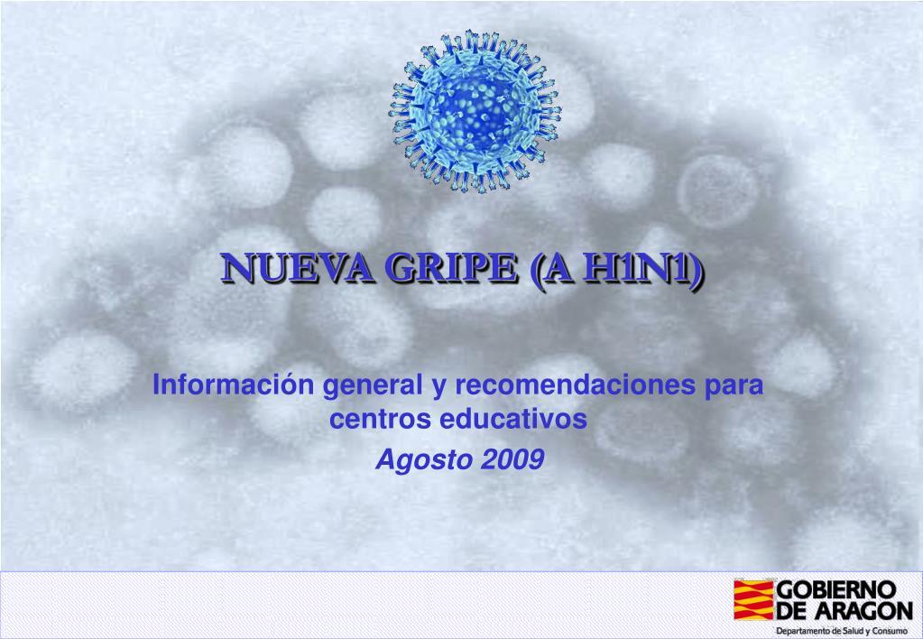 nueva gripe a h1n1 l.