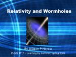 relativity and wormholes