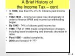 a brief history of the income tax cont