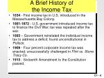 a brief history of the income tax