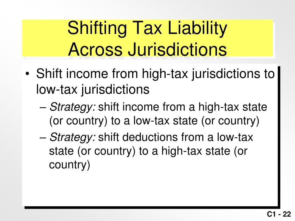 Shifting Tax Liability