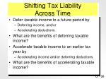 shifting tax liability across time