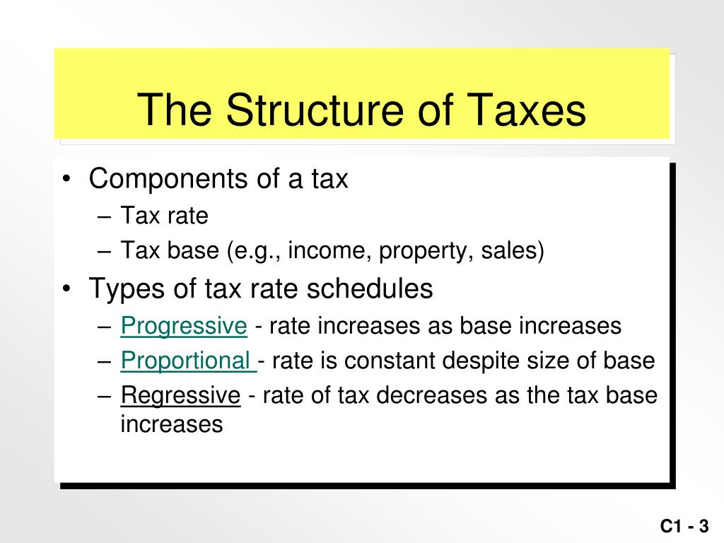 The Structure of Taxes