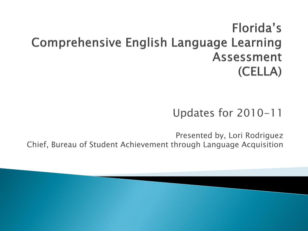 florida s comprehensive english language learning assessment cella l.