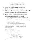 algoritmit ja ohjelmat