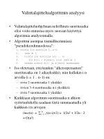 valintalajittelualgoritmin analyysi