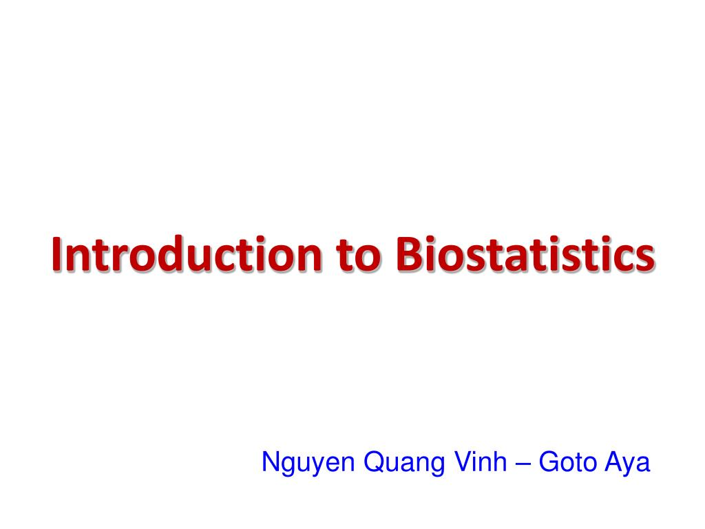 introduction to biostatistics l.