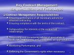 key contract management responsibilities and focus areas