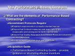 the performance based contract