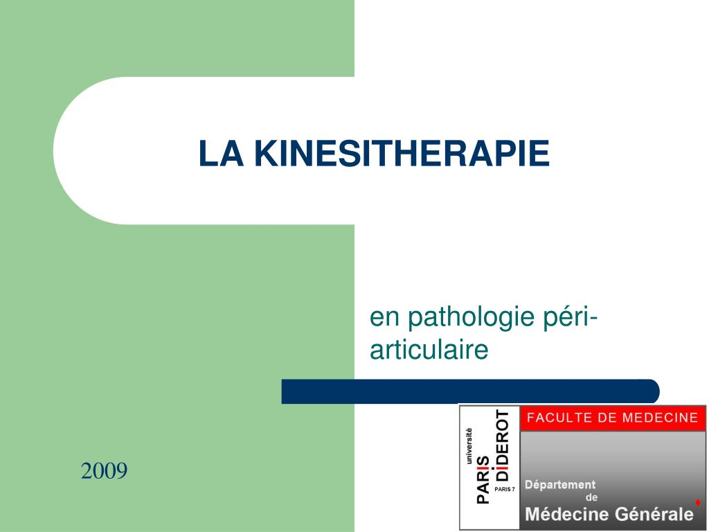 Ppt La Kinesitherapie Powerpoint Presentation Id 696328