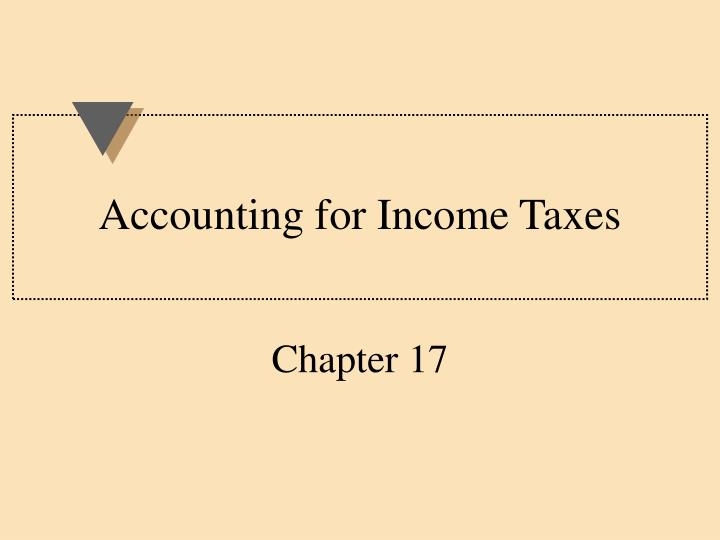 accounting for income taxes n.