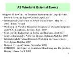 a2 tutorial external events