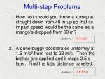 multi step problems