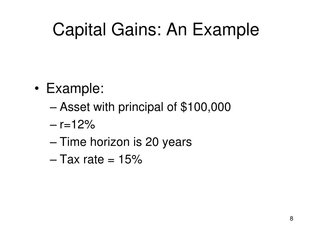 Capital Gains: An Example