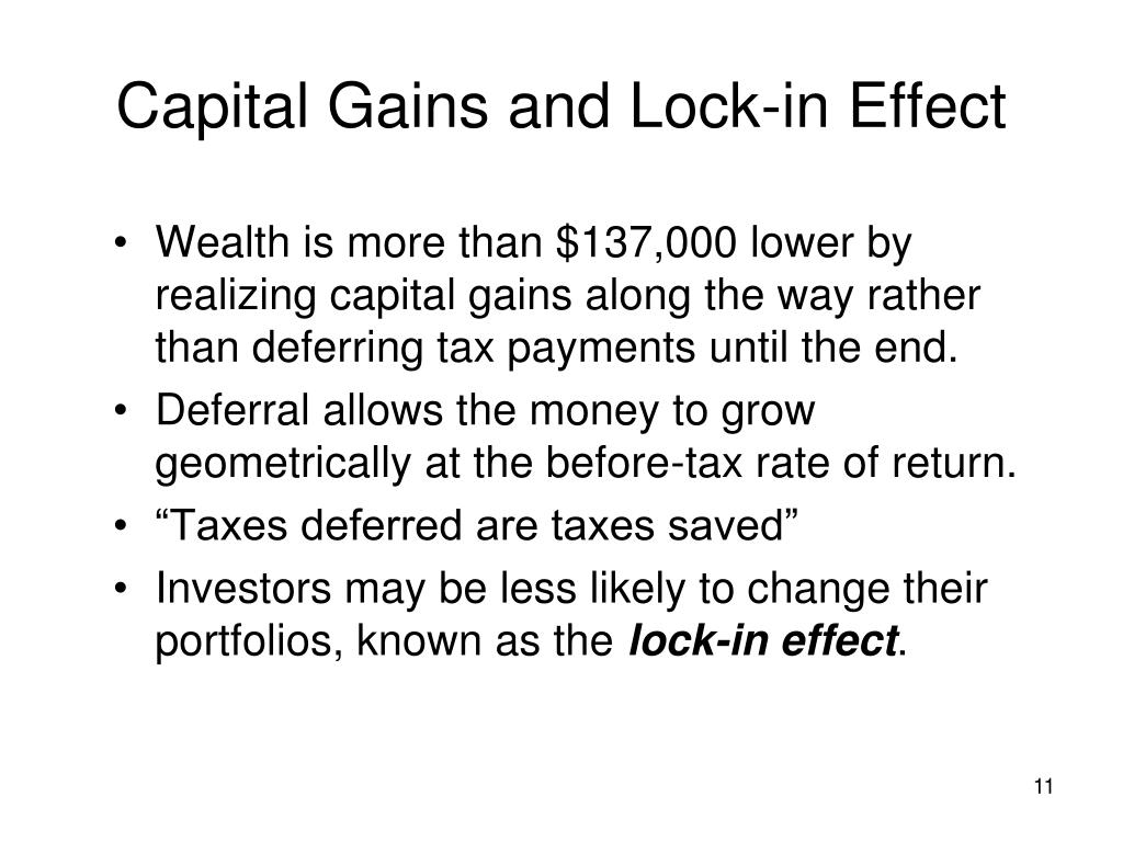 Capital Gains and Lock-in Effect