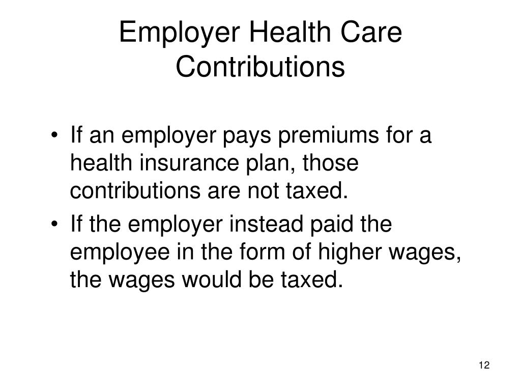 Employer Health Care Contributions