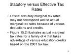 statutory versus effective tax rates