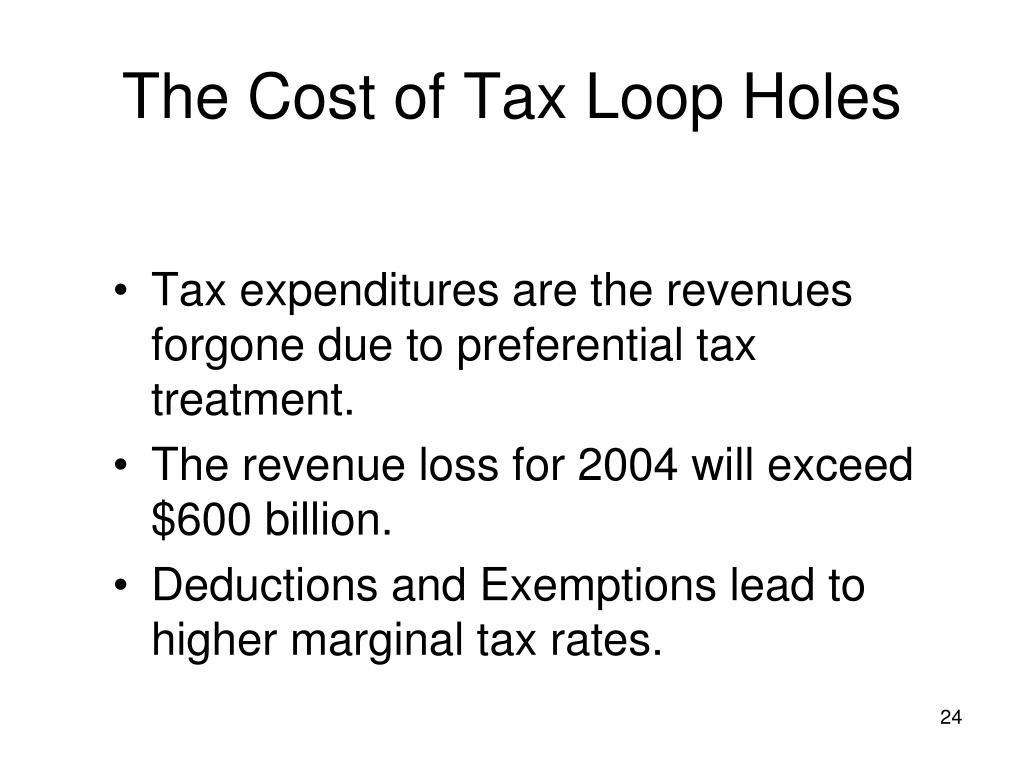 The Cost of Tax Loop Holes