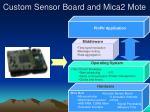 custom sensor board and mica2 mote