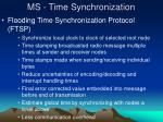 ms time synchronization