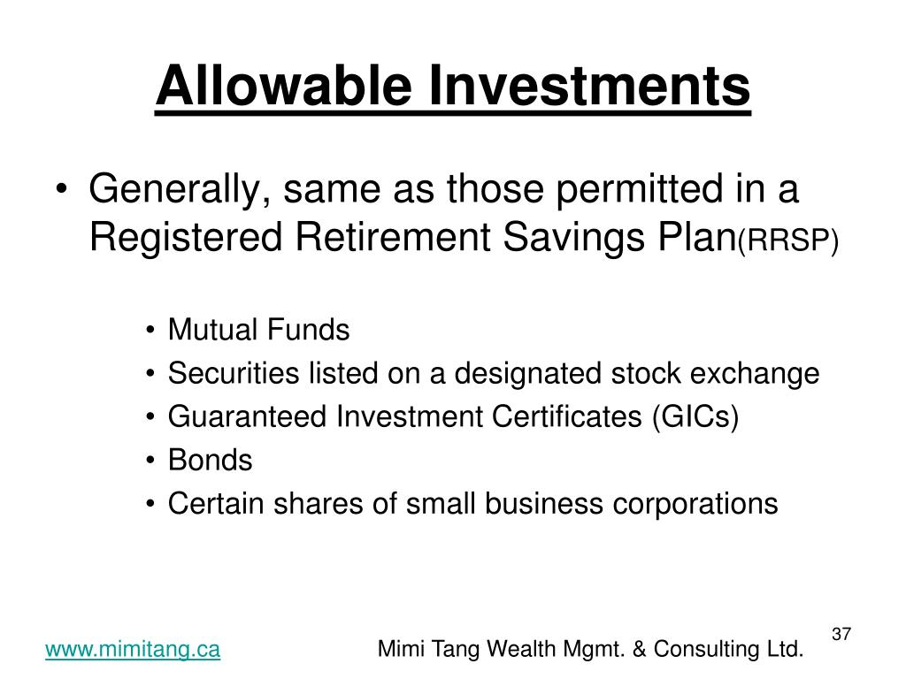 Allowable Investments