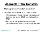 allowable tfsa transfers