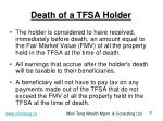 death of a tfsa holder