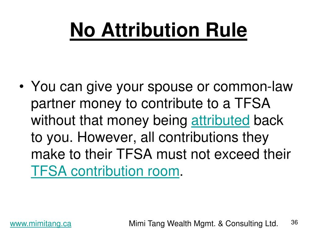 No Attribution Rule