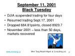 september 11 2001 black tuesday