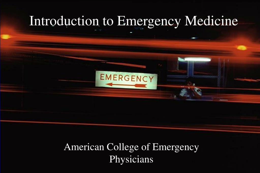 introduction to emergency medicine l.