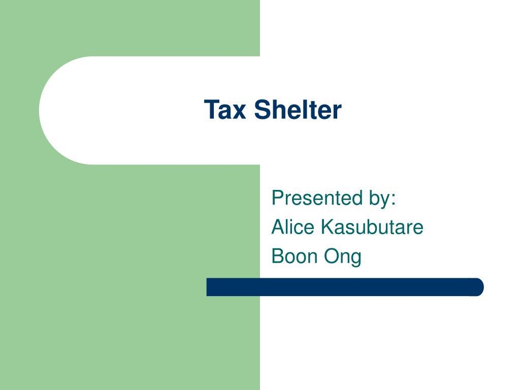tax shelter l.