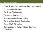 22 conservation biology
