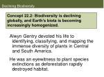 declining biodiversity