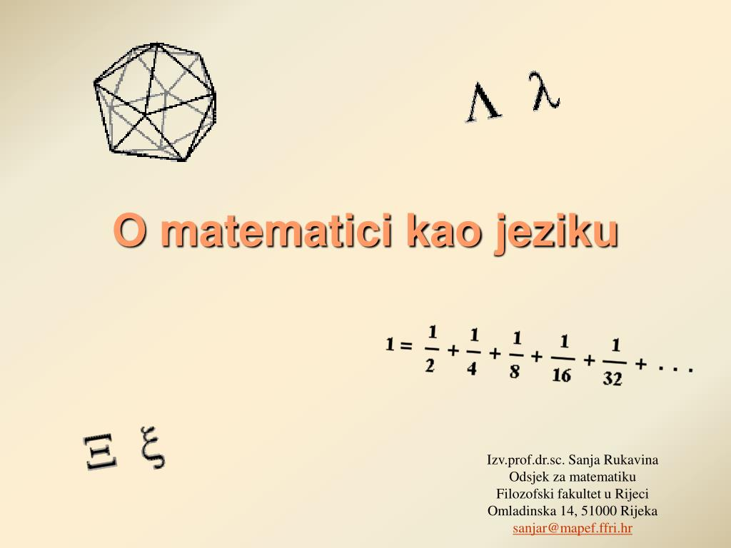 o matematici kao jeziku l.