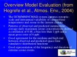 overview model evaluation from hogrefe et al atmos env 2004