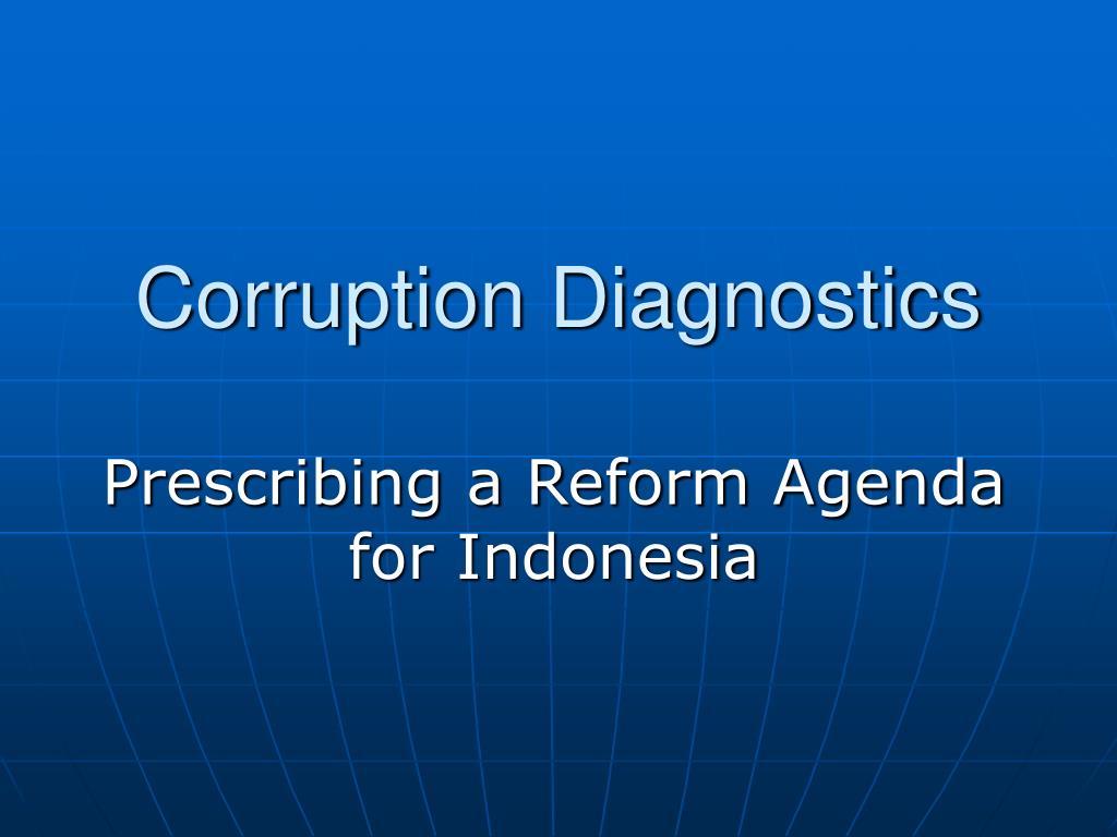 corruption diagnostics l.