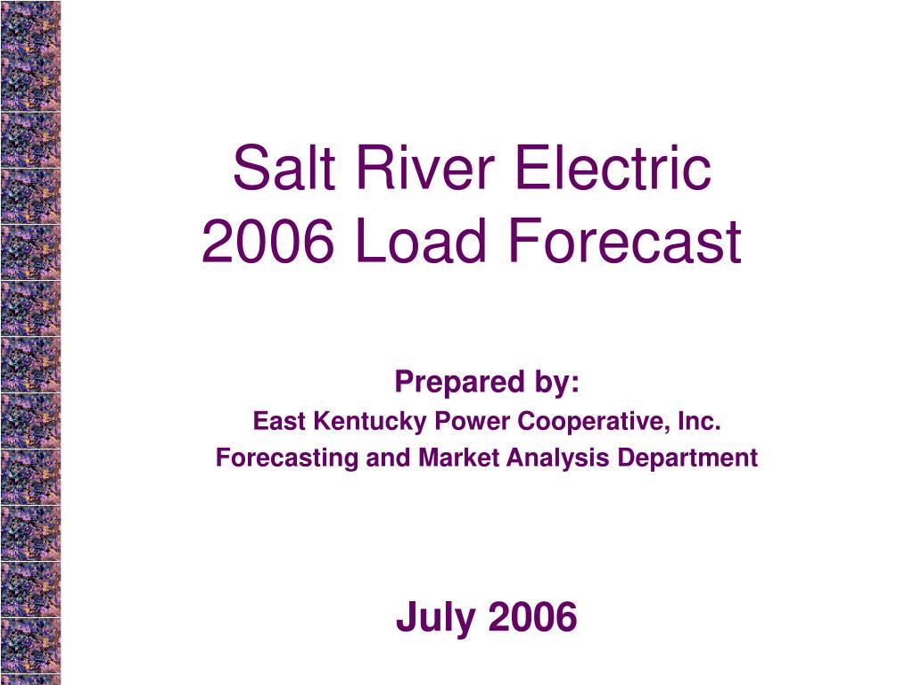 salt river electric 2006 load forecast l.