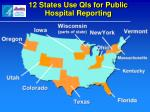 12 states use qis for public hospital reporting
