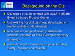 background on the qis