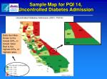 sample map for pqi 14 uncontrolled diabetes admission