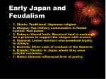 early japan and feudalism