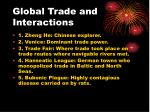 global trade and interactions