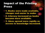 impact of the printing press